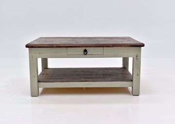 Rustic Gray Sierra Coffee Table by Texas Rustic Facing Front | Home Furniture Plus Mattress