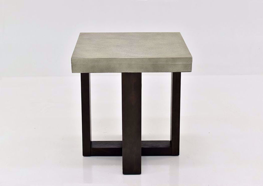 Gray Titan End Table by Lane Furnishings Facing Front | Home Furniture Plus Mattress