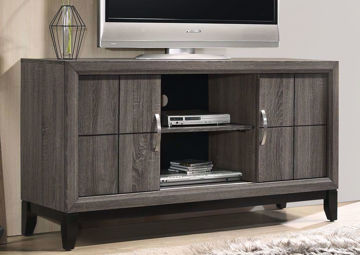 Gray Ackerson TV Stand by Crownmark in Room | Home Furniture Plus Bedding