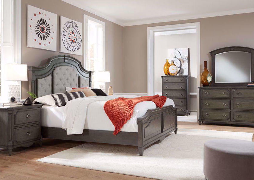 Gray Carnaby Bedroom Set by Najarian Furniture in a Room Setting | Home Furniture Plus Bedding