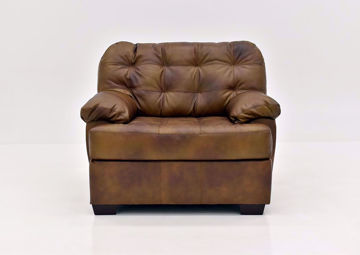 Chocolate Brown Soft Touch Leather Chair by Lane Furnishings Facing Front | Home Furniture Plus Mattress