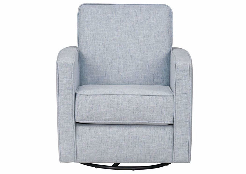 Front Facing View of the Ellison Swivel Accent Chair - Light Blue | Home Furniture Plus Bedding