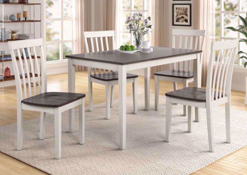 White and Gray Brody 5 Piece Dining  Table Set by Crown Mark International Showing a Room Setting | Home Furniture Plus Bedding