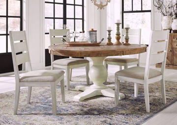 Brown and White Grindleburg Dining Table Set by Ashley | Home Furniture Plus Mattress