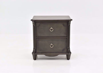 Gray Carnaby Nightstand by Najarian Furniture Facing Front | Home Furniture Plus Mattress
