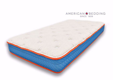 Valor Twin Size Mattress by American Bedding Angle View | Home Furniture Plus Bedding