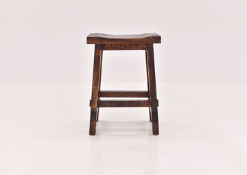 Brown Hayes 24 Inch Bar Stool by Rustic Imports front view | Home Furniture Plus Bedding