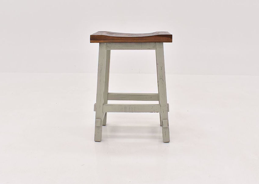 Gray Hayes 24 Inch Bar Stool by Rustic Imports front view | Home Furniture Plus Bedding