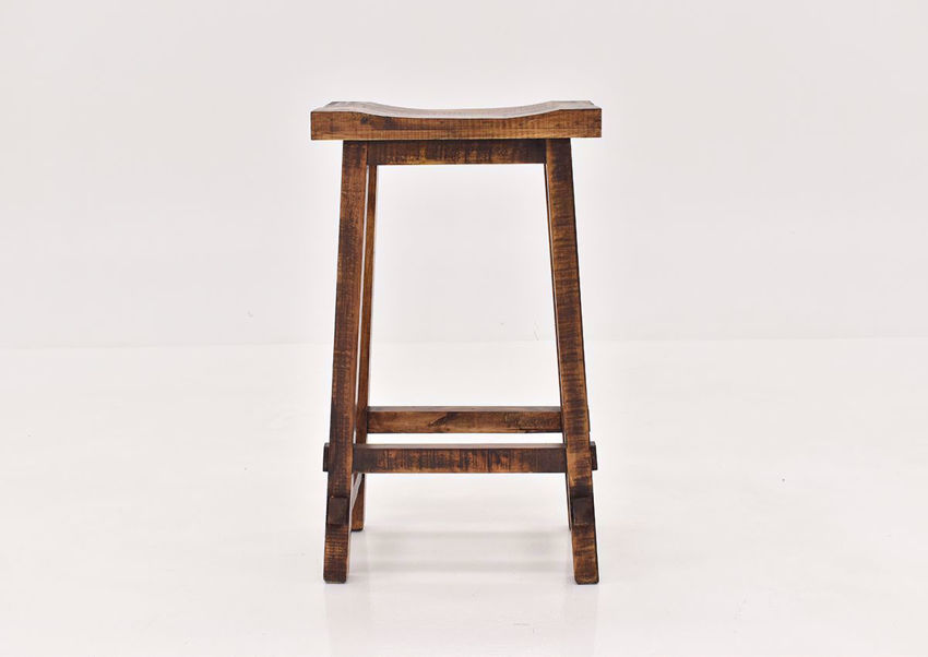 Brown Hayes 30 Inch Bar Stool by Rustic Imports front view | Home Furniture Plus Bedding