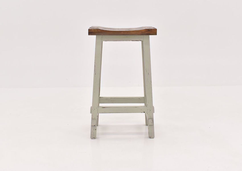 Gray Hayes 30 Inch Bar Stool by Rustic Imports front view   Home Furniture Plus Bedding