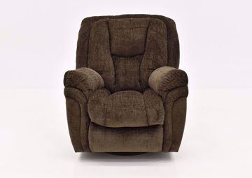 Brown Show Biz Swivel Recliner by Lane Home Furnishings front | Home Furniture Plus Bedding