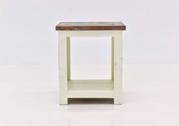 White Grande End Table by Vintage Furniture | Home Furniture Plus Bedding