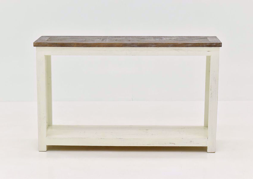 White Grande Sofa Table by Vintage Furniture | Home Furniture Plus Bedding