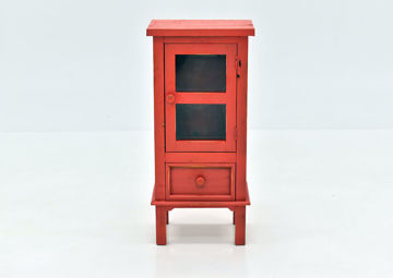 Jennings Accent Table with Warm Red Finish   Home Furniture Plus Bedding