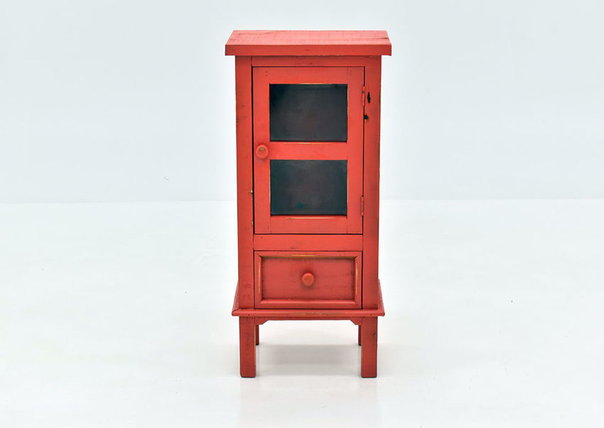 Jennings Accent Table with Warm Red Finish | Home Furniture Plus Bedding