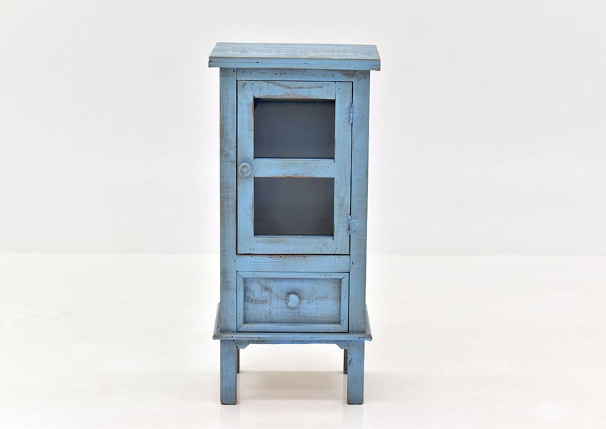 Naples Accent Table with Rustic Blue Finish | Home Furniture Plus Bedding