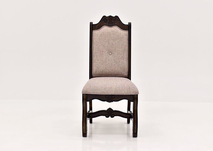 Renaissance Side Chair  in Brown Finish   Home Furniture Plus Bedding