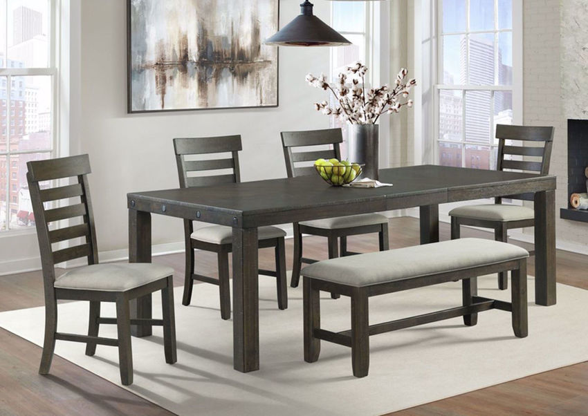Colorado Standard Height Dining Table Set Brown Home Furniture Plus Bedding