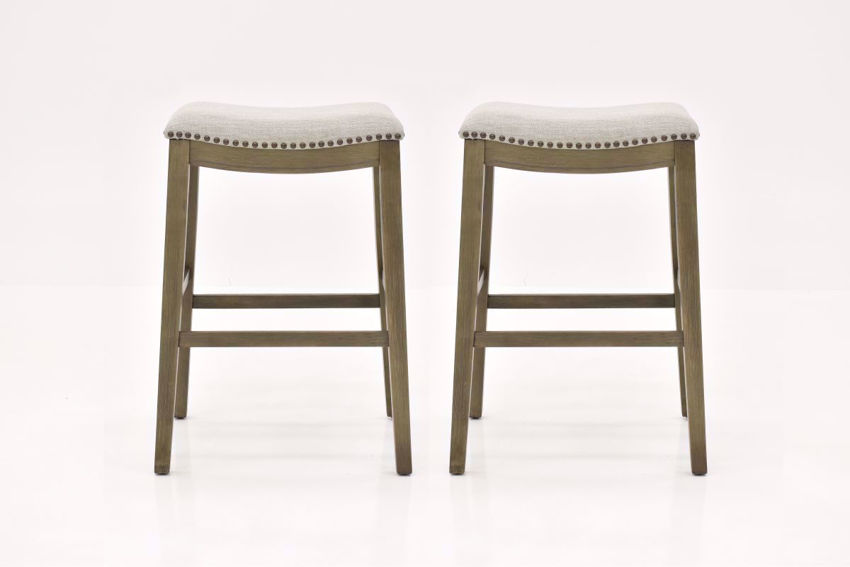 "Dexter 30"" Bar Height Barstool - Beige with Gray 