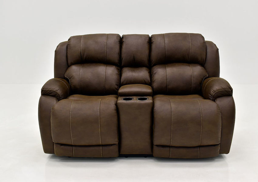 Brown Denali POWER Reclining Loveseat by HomeStretch | Home Furniture Plus Bedding