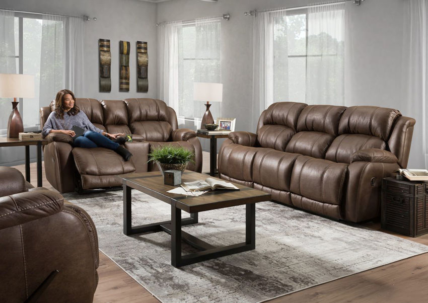 Denali Reclining Sofa Set Brown