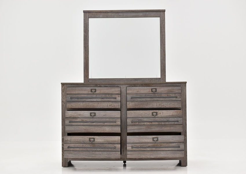 Front Facing View of the Bateson Dresser with Mirror | Home Furniture Plus Bedding