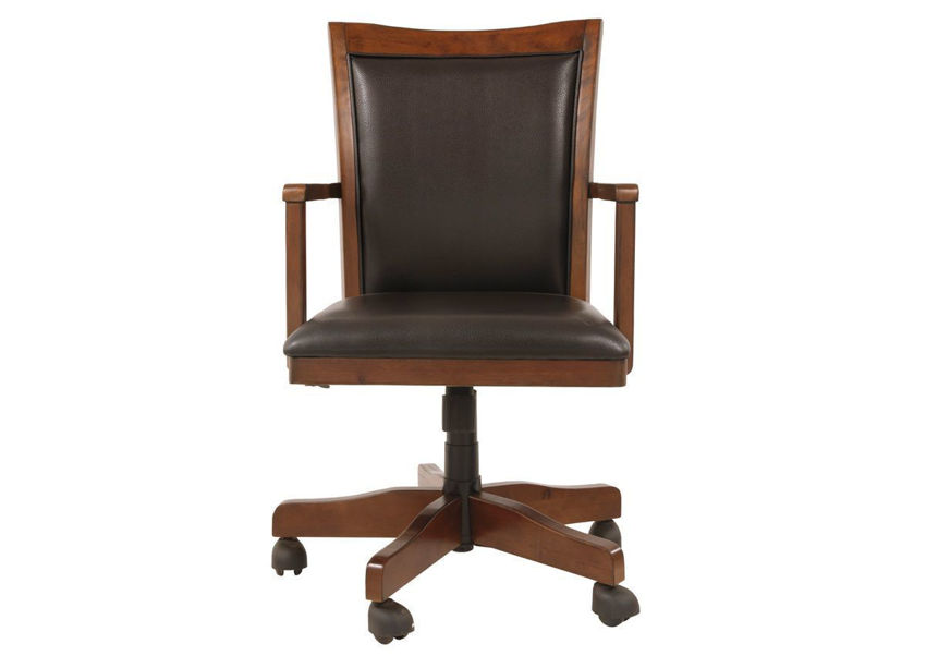 Brown Hamlyn Home Office Desk Chair by Ashley Showing the Front View | Home Furniture Plus Bedding