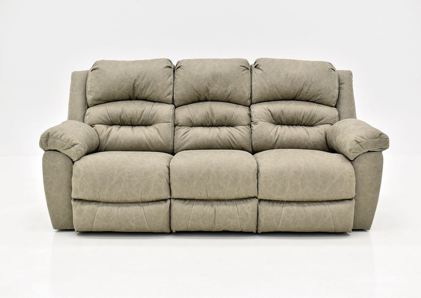 Tan Bella POWER Reclining Sofa by Franklin Furniture Showing the Front View, Made in the USA | Home Furniture Plus Bedding