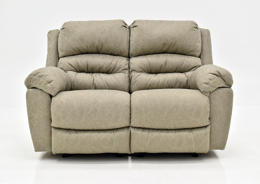 Tan Bella POWER Reclining Loveseat by Franklin Furniture Showing the Front View, Made in the USA | Home Furniture Plus Bedding