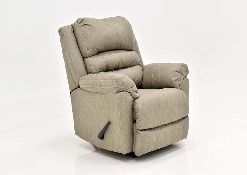 Tan Bella Recliner by Franklin Furniture Showing the Angle View, Made in the USA | Home Furniture Plus Bedding