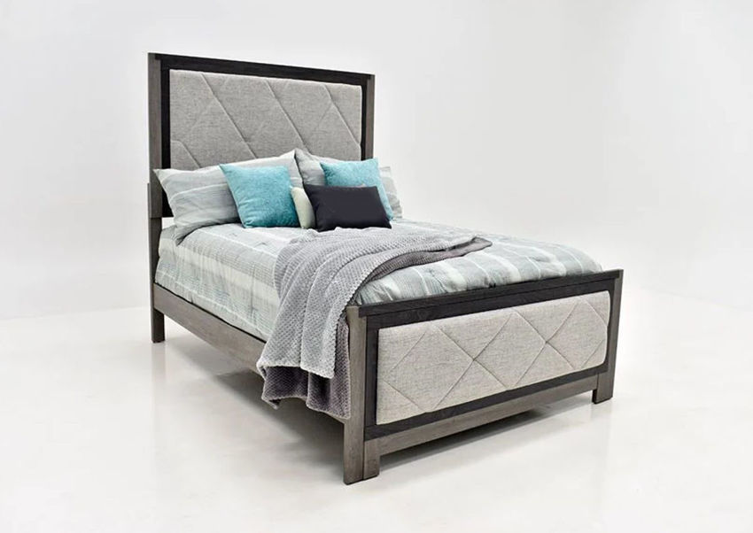 Picture of Carter Upholstered King Size Bed - Gray