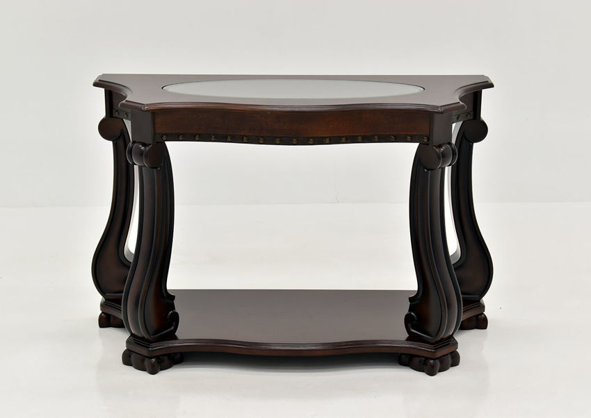 Dark Brown Madison Sofa Table by Crown Mark Facing Front | Home Furniture Plus Bedding