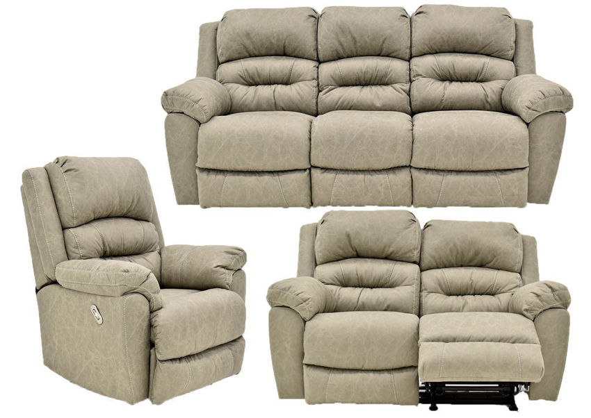 Tan Bella POWER Reclining Sofa Set by Franklin Furniture Showing the Group, Made in the USA | Home Furniture Plus Bedding
