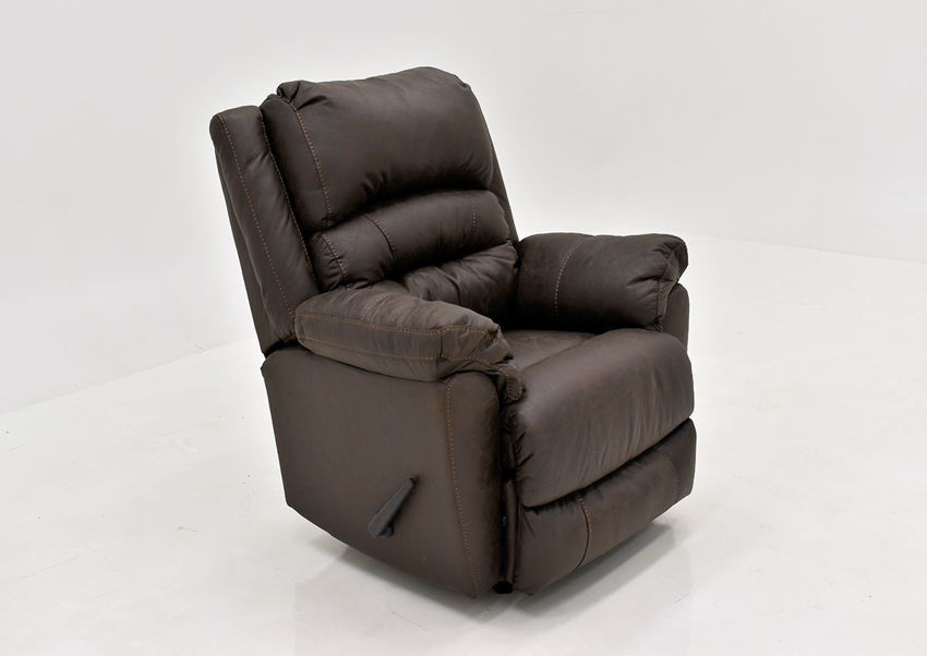 Dark Brown Bella Recliner by Franklin Furniture. Showing the Angle View. Made in the USA | Home Furniture Plus Bedding