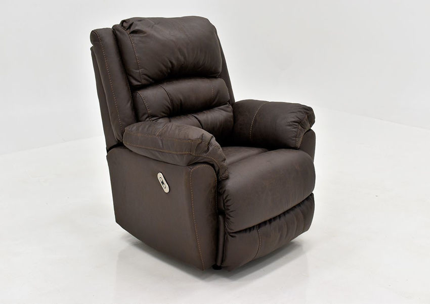 Dark Brown Bella POWER Recliner Set by Franklin Furniture, Showing the Angle View, Made in the USA | Home Furniture Plus Bedding