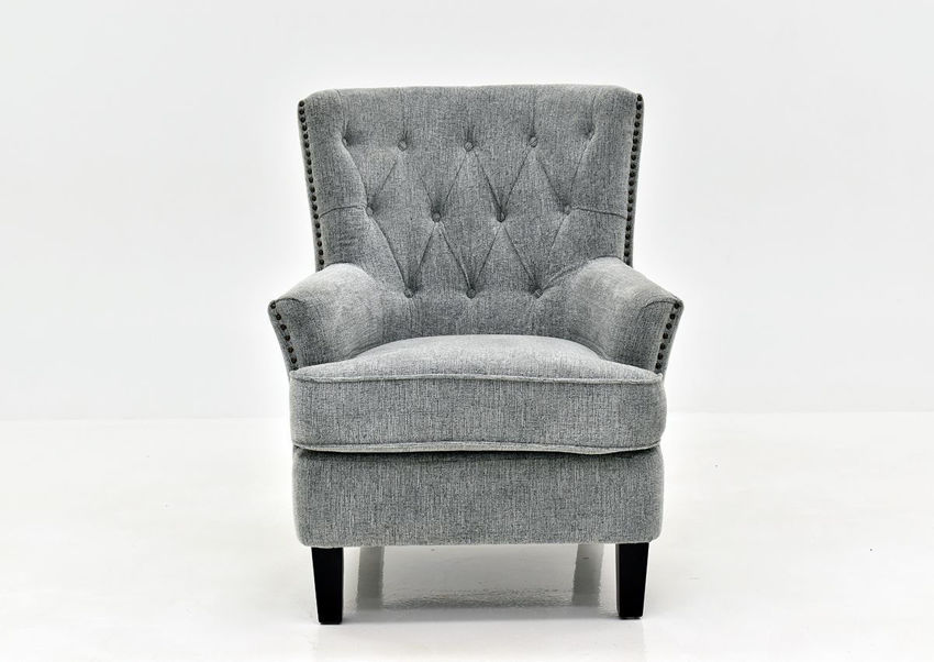 Ash Gray Bryson Accent Chair by Jofran Showing the Front View | Home Furniture Plus Bedding