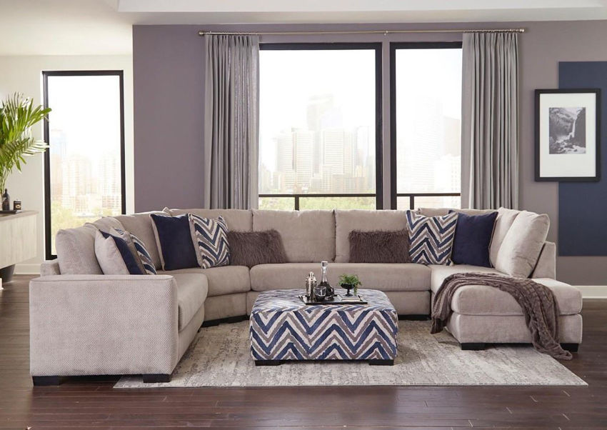 Gray Prowler Large Sectional Sofa by Albany Industries Showing the Room Setting, Made in the USA | Home Furniture Plus Bedding