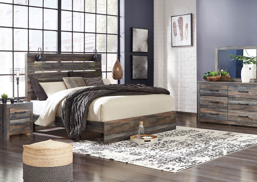 Picture of Drystan King Size Bedroom Set - Brown