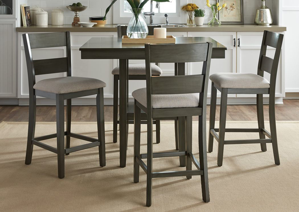 Loft Counter Height Dining Table Set Gray Home Furniture Plus Bedding