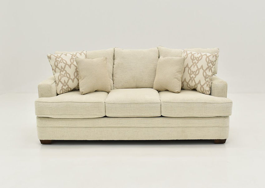 Off White Chadwick Sofa by Klaussner Showing a Front View, Made in the USA | Home Furniture Plus Bedding