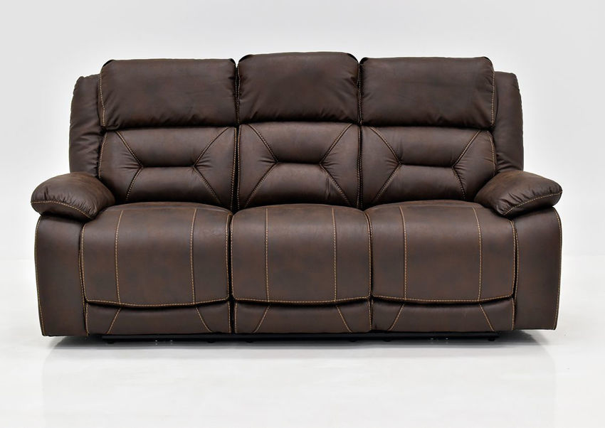 Brown Aria POWER Reclining Sofa by Steve Silver Showing the Front View | Home Furniture Plus Bedding