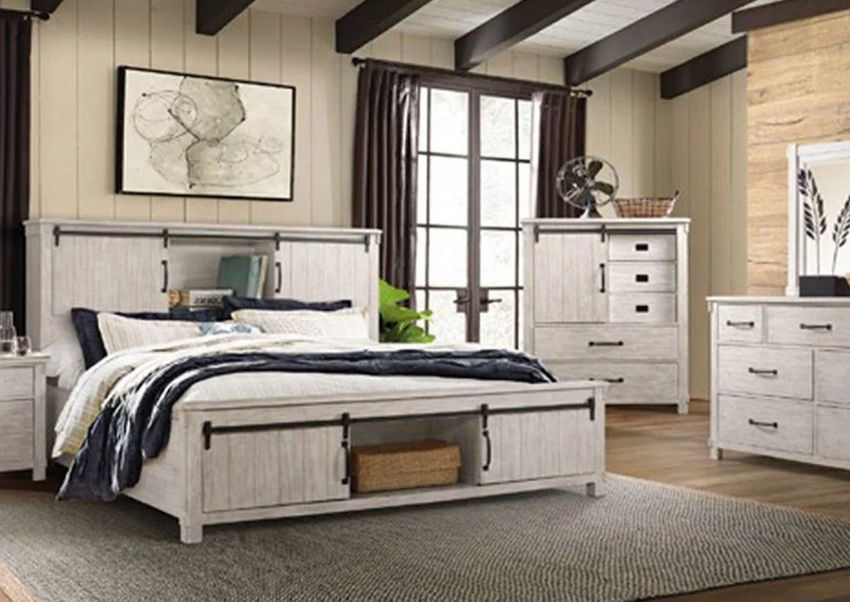 Picture of Scott King Size Storage Bedroom Set - White