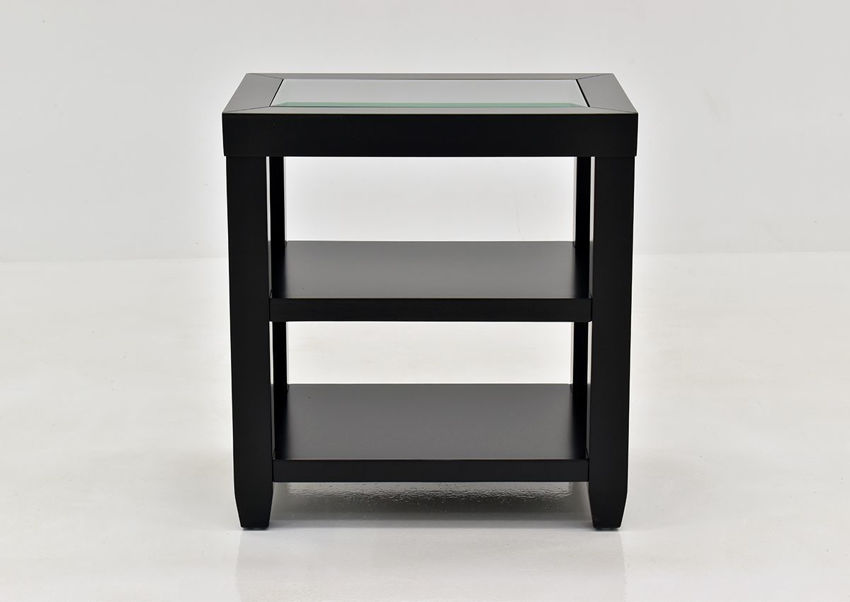 Black Urban Chairside Table by Jofran Showing the Front View | Home Furniture Plus Bedding