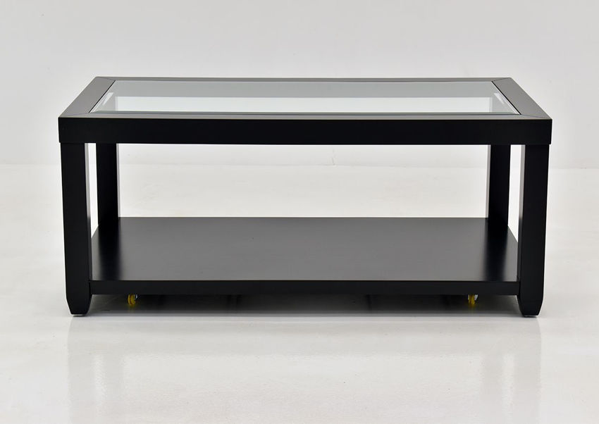 Black Urban Coffee Table by Jofran Showing the Front View | Home Furniture Plus Bedding