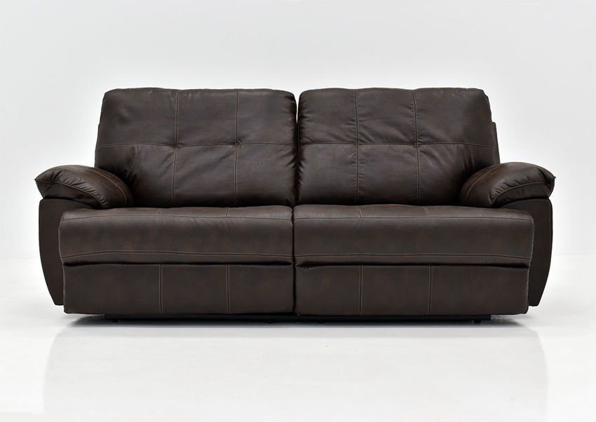 Brown Hollister Reclining Sofa by Standard Furniture - Facing Front | Home Furniture Plus Bedding
