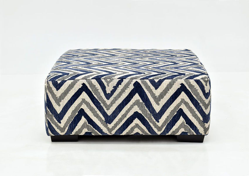Chevron Patterned Prowler Ottoman by Albany Industries Showing the Front View. Made in the USA | Home Furniture Plus Bedding