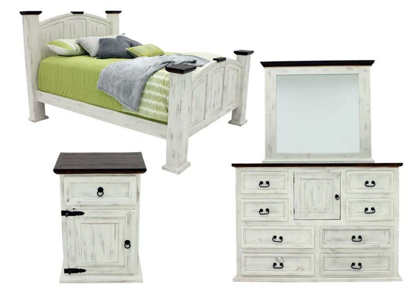 Picture of Mansion King Size Bedroom Set - White
