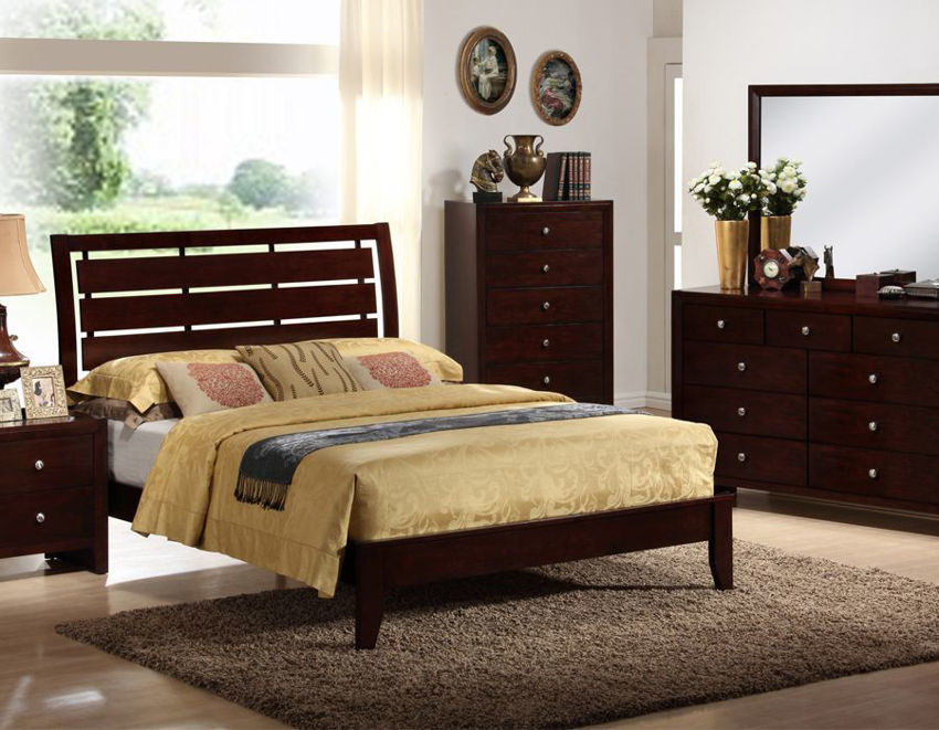 Brown Marshall King Size Bedroom Set by Crown Mark Showing a Room Setting | Home Furniture Plus Bedding
