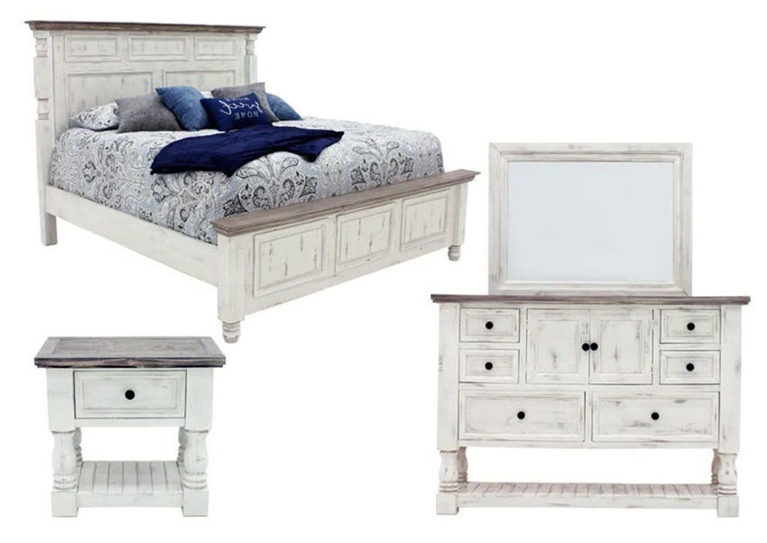 White Martha King Size Bedroom Set by Vintage Showing the Group | Home Furniture Plus Bedding