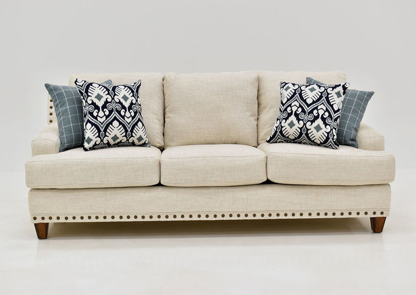 Off White Brynwood Sofa by Franklin Furniture, Showing the Front View, Made in the USA | Home Furniture Plus Bedding